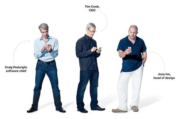 Tim Cook, Jony Ive και Craig Federighi μιλούν για το iPhone, την Apple και τον ανταγωνισμό