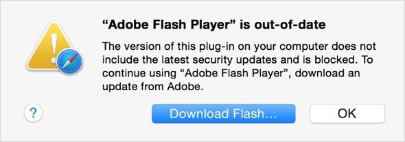 H Apple μπλοκάρει τις παλαιότερες εκδόσεις Flash Player για λόγους ασφαλείας