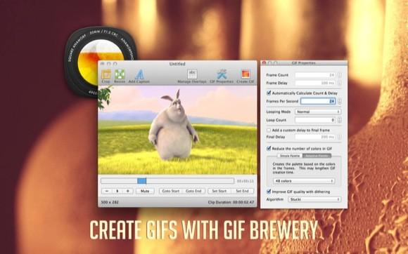 Δημιουργήστε εικόνες GIF με το GIF Brewery για Mac
