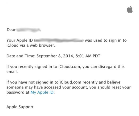 Αποστολή email από την Apple κάθε φορά που κάποιος εισέρχεται στο λογαριασμό iCloud σου
