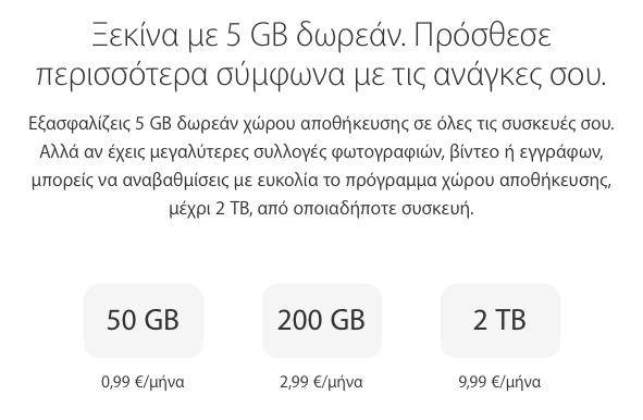Μειώσεις τιμών στο iCloud storage: 2TB / μήνα με μόλις €9,99