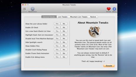Mountain Tweaks, η απόλυτη παραμετροποίηση του OS X Mountain Lion