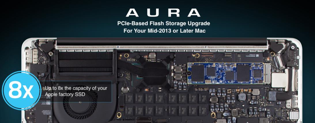 Η OWC παρουσιάζει τα Aura PCIe για αναβάθμιση της χωρητικότητας των flash drives των MacBook Pro / Air