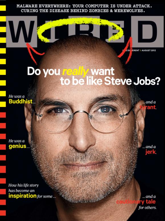 Εξώφυλλο για τον Steve Jobs στο WIRED με αφορμή σύγκριση για τους σημερινούς CEOs