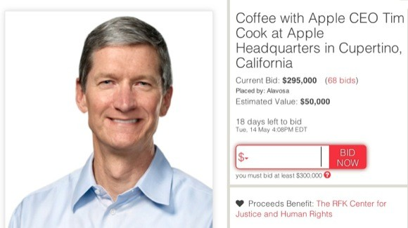 Εσείς πόσα θα δίνατε για έναν καφέ με τον Tim Cook;