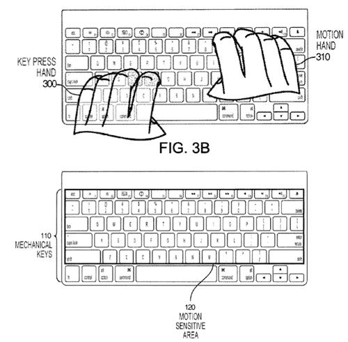 Πληκτρολόγιο με motion control σε πατέντα της Apple