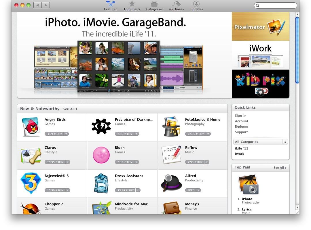 Mac App Store: 1 εκατομμύριο downloads την πρώτη μέρα!