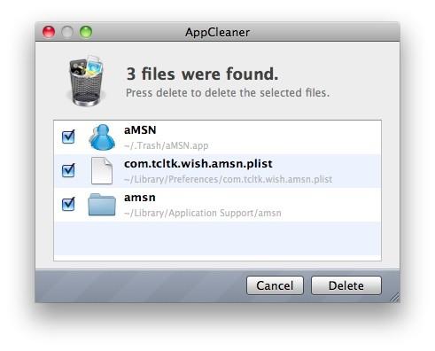 Απεγκατάσταση εφαρμογών στο Mac OS X
