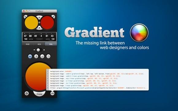 Gradient: Δημουργήστε εύκολα CSS3 Gradients στο Mac