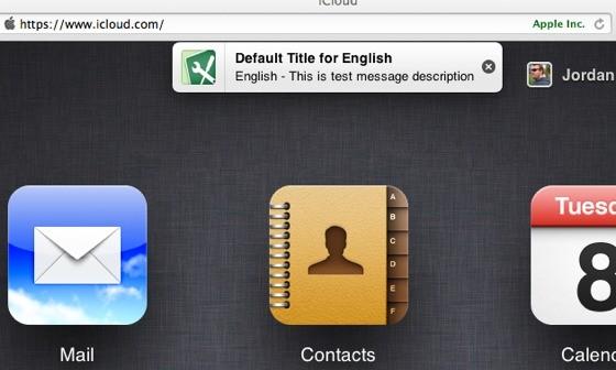 Η Apple δοκιμάζει σύστημα ειδοποιήσεων για το iCloud.com