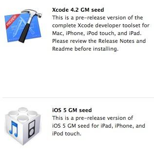 Διαθέσιμα τα iOS 5 GM, OS X 10.7.2 GM και Xcode 4.2 GM