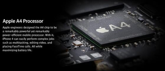H Apple σχεδιάζει την εξέλιξη του A4