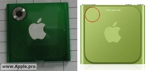 iPod nano με οπίσθια κάμερα και χωρίς clip (;)