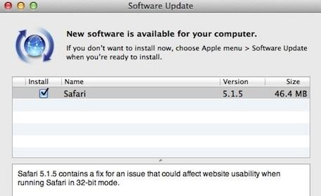 Διαθέσιμος ο Safari 5.1.5