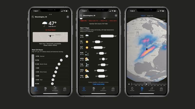 Η Apple εξαγόρασε τη δημοφιλή εφαρμογή καιρού Dark Sky