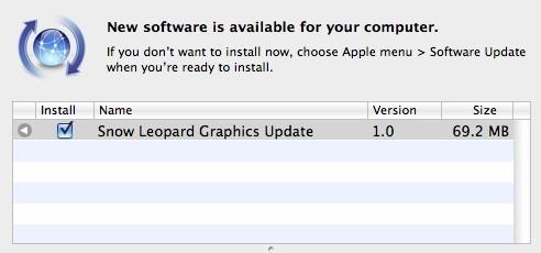 Snow Leopard Graphics Update
