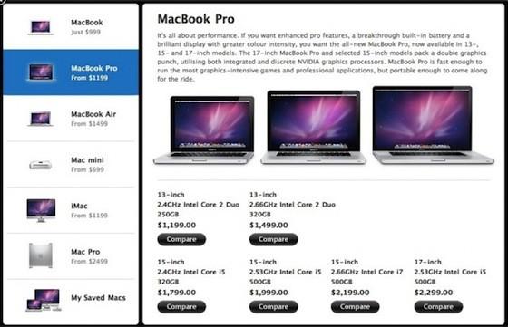 """Νέα επιλογή """"Compare Macs"""" στο App Store"""