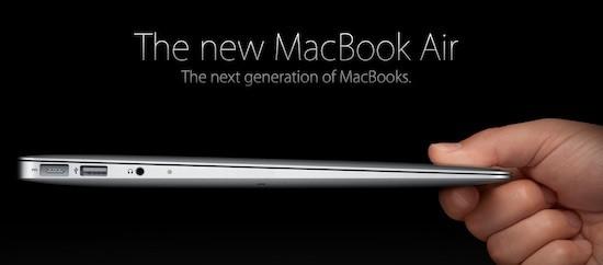 H Apple ανανεώνει τη σειρά Macbook Air
