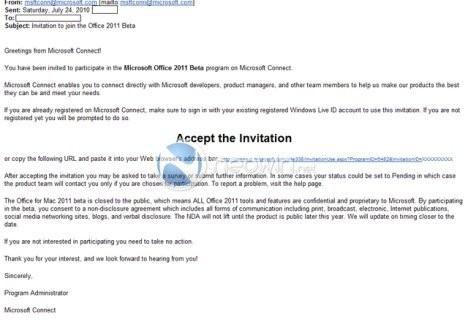 H Microsoft προσκαλεί χρήστες στη beta έκδοση του Office 2011 για Mac