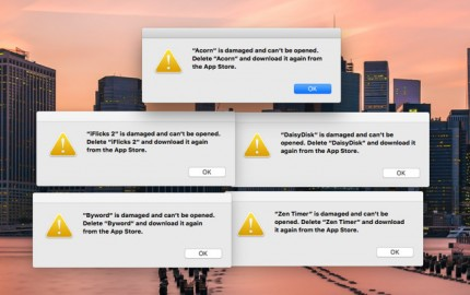 """OS X και μήνυμα σφάλματος """"App is Damaged Can't Be Opened"""""""