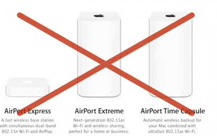 Apple: Σταματάει την ανάπτυξη των AirPort Express, AirPort Extreme και AirPort Time capsule